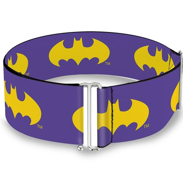 Batman Signal Purple Yellow Cinch Waist Belt ONE SIZE