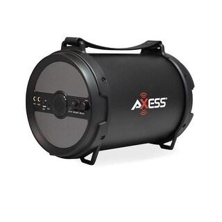 Axess spbt1040gy axess portable bluetooth 2.1 hi-fi cylinder loud speaker built-in 6 sub gray
