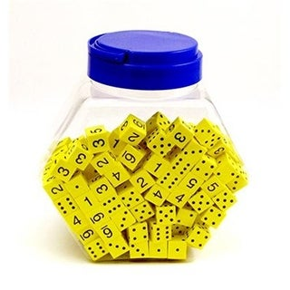 Koplow Games Inc. 16Mm Foam Dice Tub Of 200 Yellow Spot & Number