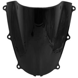 Black Plastic Motorcycle Windshield Windscreen For 2005 2006 Honda CBR600RR
