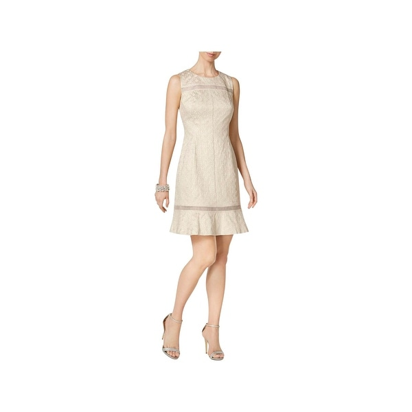 850223c1436 Shop Vince Camuto Womens Cocktail Dress Metallic Sleeveless - Free ...