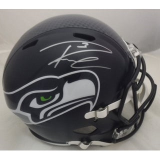 Russell Wilson Autographed Riddell Full Size Replica Helmet in Silver