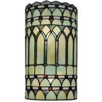 "Meyda Tiffany 134526 Aello 2 Light 7.75"" Wide Hand-Crafted Wall Sconce with Stained Glass"