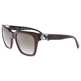 Coach HC8240 55203B Oxblood Square Sunglasses - 52-21-140