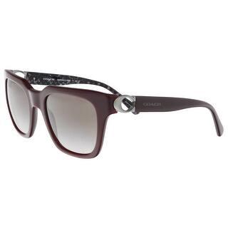 f6de1b4e42 Coach HC8240 55203B Oxblood Square Sunglasses - 52-21-140