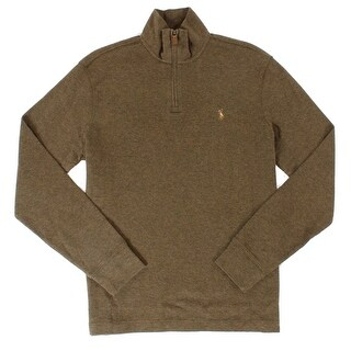 Polo Ralph Lauren NEW Brown Mens Size Small S Pullover 1/2 Zip Sweater