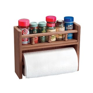 Whitecap Teak Paper Towel Holder w/Spice Rack - 62446