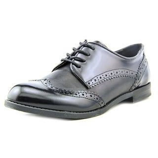 Marc Fisher Sailor Women Round Toe Leather Black Oxford
