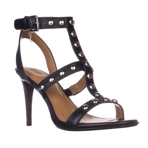 Coach Isabel Ankle Strap Dress Heel Sandals, Black