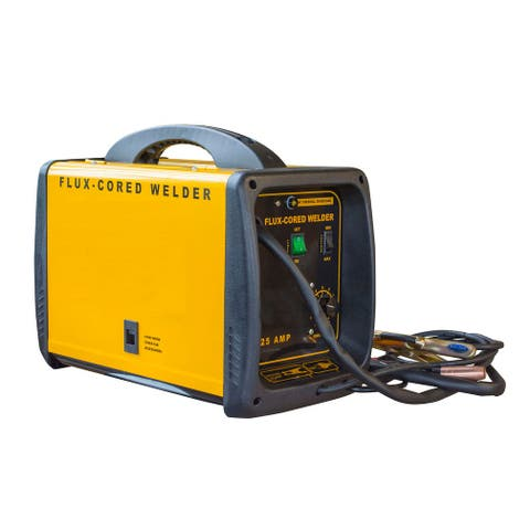 Offex Metal 125 Amp Flux Cored 120V Welder - Yellow, Black - Yellow