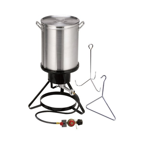 Masterbuilt 20020107 Propane Turkey Fryer With Stand And Hanger Hook