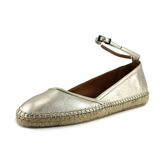 Giorgio Armani X1S010 Round Toe Leather Flats