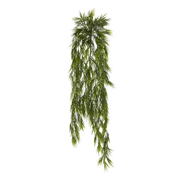 Nearly Natural Home Decor 43 Mini Bamboo Hanging Bush - Set Of 2