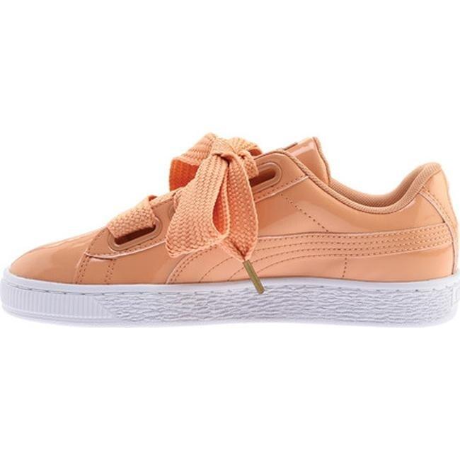 PUMA Women's PUMA Basket Heart Patent Sneaker Dusty CoralDusty Coral Sneakers from shoes   People