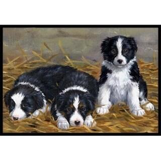Carolines Treasures ASA2196MAT Border Collie Puppies Indoor or Outdoor Mat 18 x 27