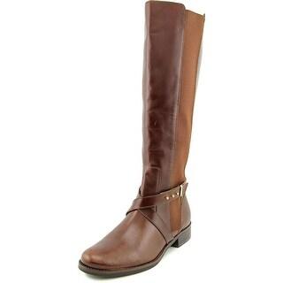 Steven Steve Madden Sydnee Round Toe Leather Knee High Boot