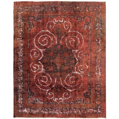 """Hand-knotted Color Transition Copper Wool Rug - 9'11"""" x 12'2"""""""