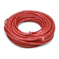 Cat6 Ethernet Patch Cable Network Internet Cord RJ45 Stranded UTP 24AWG 100' Red