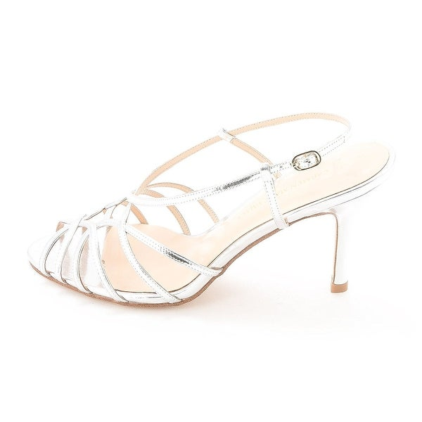 Carmen Marc Valvo Womens Noelle Peep Toe Special Occasion Ankle Strap Sandals - 9