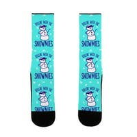 Rollin' With The Snowmies US Size 7-13 Socks by LookHUMAN