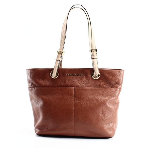Shop Michael Kors NEW Brown Luggage Leather Bedford Zip Top