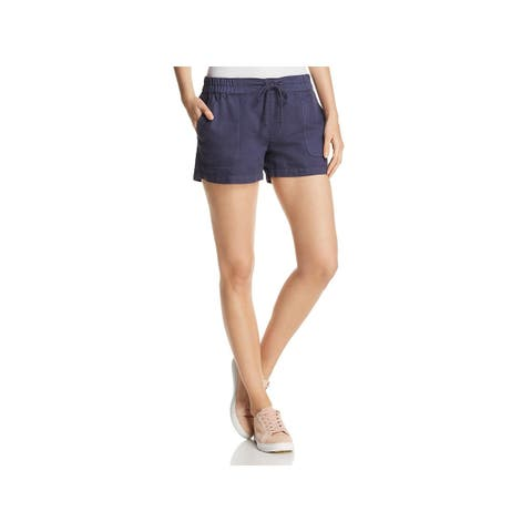 Kenneth Cole New York Womens Cargo Shorts Linen Blend Flat Front
