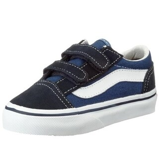 Vans Boys' Old Skool V (Toddler) - Navy - 9 Toddler