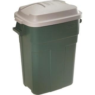 Rubbermaid 30Gl Green Trash Can