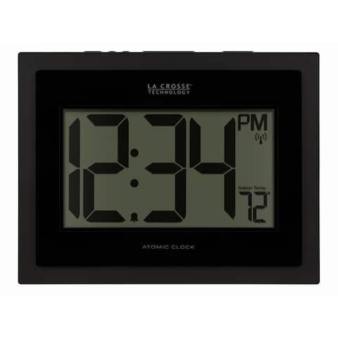 La Crosse Technology 513-54087-INT Atomic Digital Clock with Temp