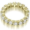 2.50 cttw. 14K Yellow Gold Round Cut Diamond Eternity Wedding Band - Thumbnail 1