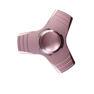 Metal Fidget Hand Spinner Long Spin ADHD Stress Relief Desk Toy With Gift Box. - Pink