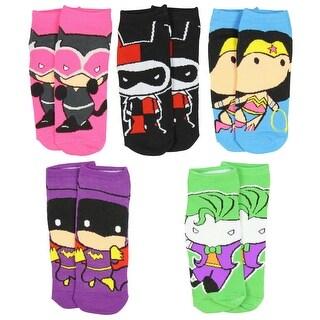 DC Comics Womens Superhero & Villians Character Socks 5 Pair
