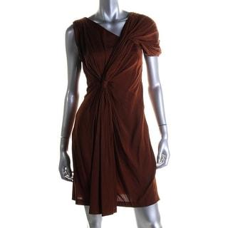 Catherine Malandrino Womens Silk Ruched Party Dress - 4