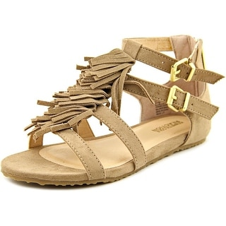 Kenneth Cole Reaction Audra Struck Youth Open Toe Suede Brown Gladiator Sandal