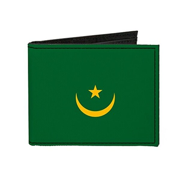 Buckle-Down Canvas Bi-fold Wallet - Mauritania Flag Accessory