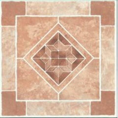 Mintcraft CL2071 Diamond Stone Viny Floor Tile, Brown