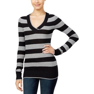Energie Womens Juniors Pullover Sweater Striped Long Sleeve - XS