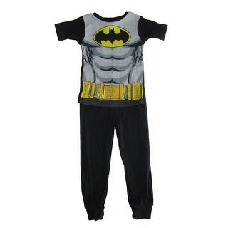 DC Comics Boys Black Gray Batman Cotton Short Sleeve Pajama Set
