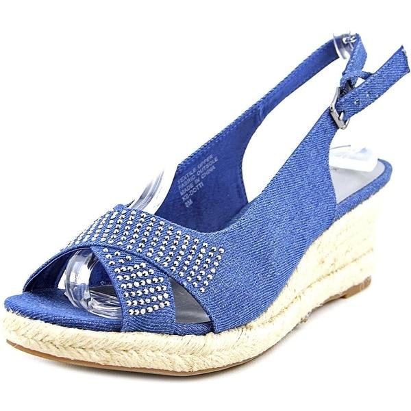 Karen Scott Dotti Women Open Toe Canvas Wedge Sandal