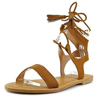 Bamboo Bayside Open Toe Suede Gladiator Sandal