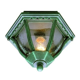 Trans Globe Lighting 4558 Single Light Down Lighting Outdoor Flush Mount Ceiling Fixture from the Outdoor Collection