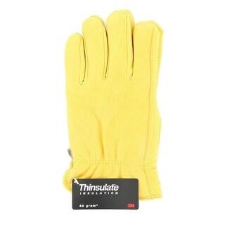 M&F Western Work Gloves Mens Deerskin Insulated Tan