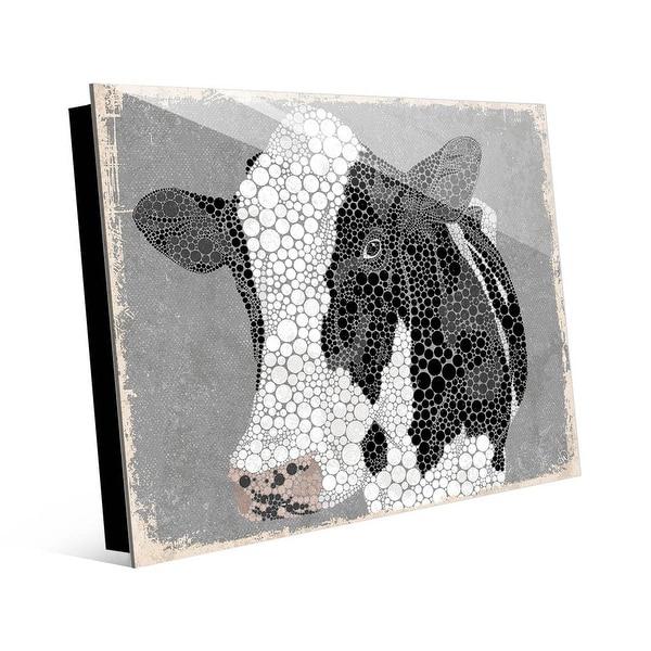 Kathy Ireland Dottie the Cow on Gray on Acrylic Wall Art Print. Opens flyout.