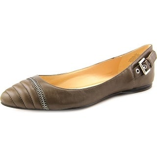 Nine West Savory Women Round Toe Leather Gray Flats