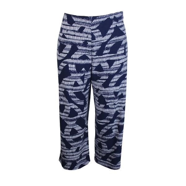 0abf1a31649 Shop Alfani Plus Size Black White Print Culotte Pants 0X - Free ...