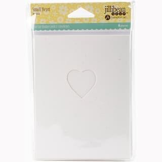 "Jillibean Soup Shaker Cards W/Envelopes 5.5""X4.25"" 6/Pkg-Small Heart https://ak1.ostkcdn.com/images/products/is/images/direct/c5759b6d97bd78e4f1ef6ccd332e85f086feaed4/Jillibean-Soup-Shaker-Cards-W-Envelopes-5.5%22X4.25%22-6-Pkg-Small-Heart.jpg?impolicy=medium"
