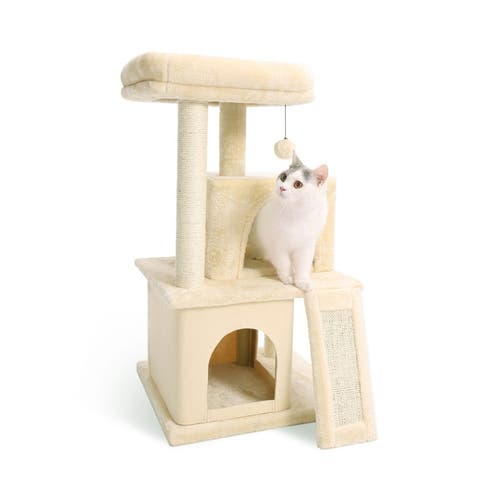 Cat Tree,Cats Activity Centre/Playhouse with Dangling Toys