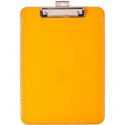 Orange - Low Profile Neon Plastic Clipboard