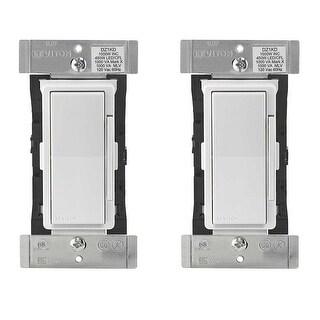 Leviton DZ1KD-1BZ Decora Smart 1000W Dimmer with Z-Wave Plus Technology (2 Pack) - White
