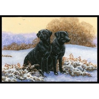 Carolines Treasures BDBA0450MAT Black Labradors in the Snow Indoor or Outdoor Mat 18 x 27